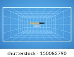 wireframe grid space  room 6x8... | Shutterstock .eps vector #150082790