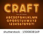 neon light 3d alphabet  extra... | Shutterstock .eps vector #1500838169