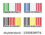 set of four bar code symbols... | Shutterstock .eps vector #1500838976