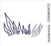 hand drawn vector sketch. grass.... | Shutterstock .eps vector #1500843473