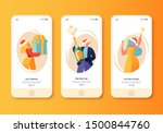 happy new year holiday... | Shutterstock .eps vector #1500844760