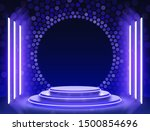 stage podium with lighting ... | Shutterstock .eps vector #1500854696