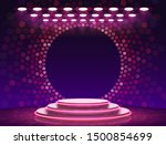 stage podium with lighting ... | Shutterstock .eps vector #1500854699