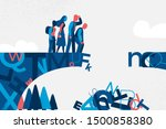 a bridge made of letters with...   Shutterstock .eps vector #1500858380