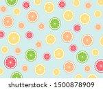 seamless cute tropical mix... | Shutterstock .eps vector #1500878909