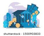 bank. bank operations  deposits ... | Shutterstock .eps vector #1500903833