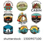 vintage camp logos  mountain... | Shutterstock .eps vector #1500907100