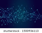 abstract network technology... | Shutterstock .eps vector #1500936113