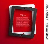 vector computer tablet... | Shutterstock .eps vector #150094700