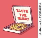pizza box as a turntable vector ... | Shutterstock .eps vector #1500947006