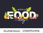 world food day illustration... | Shutterstock .eps vector #1500952496