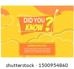 did you know banner with yellow ... | Shutterstock .eps vector #1500954860