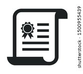 diploma certificate icon.... | Shutterstock .eps vector #1500955439