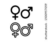 gender icon. man and woman icon ... | Shutterstock .eps vector #1500957059