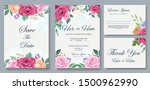 wedding invitation card with...   Shutterstock .eps vector #1500962990
