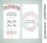 wedding card | Shutterstock .eps vector #150097043