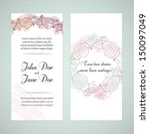 wedding card | Shutterstock . vector #150097049