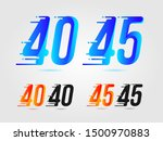 number forty  40  and forty... | Shutterstock .eps vector #1500970883