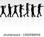 vector silhouette of children... | Shutterstock .eps vector #1500988946