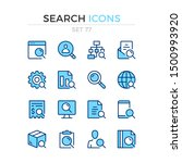 search icons. vector line icons ... | Shutterstock .eps vector #1500993920