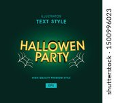 halloween text style with...   Shutterstock .eps vector #1500996023