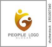 kids care logo vector  caring... | Shutterstock .eps vector #1501007360