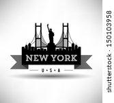 modern new york skyline ribbon | Shutterstock .eps vector #150103958