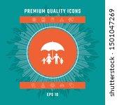 family under umbrella   family... | Shutterstock .eps vector #1501047269