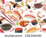 sushi seamless pattern | Shutterstock .eps vector #150106430
