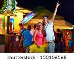 freak people having fun on... | Shutterstock . vector #150106568