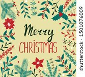 christmas card with winter...   Shutterstock .eps vector #1501076009
