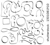 doodle set of pencil drawing...   Shutterstock .eps vector #1501081910