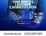 text sign showing your choices... | Shutterstock . vector #1501085189