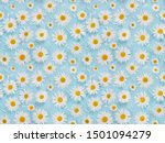 Seamless Pattern With Chamomil...