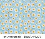 Seamless Pattern With Chamomile ...
