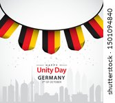 happy germany unity day vector... | Shutterstock .eps vector #1501094840