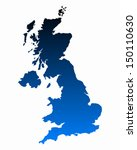 map of united kingdom | Shutterstock .eps vector #150110630