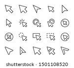 cursor line icon set....   Shutterstock .eps vector #1501108520