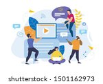 advertising poster... | Shutterstock .eps vector #1501162973