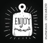 enjoy your meal quote on a... | Shutterstock .eps vector #1501168250
