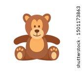 teddy bear icon. flat... | Shutterstock .eps vector #1501173863