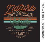vintage adventure is calling... | Shutterstock .eps vector #1501174943
