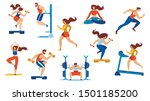 summer time sport activities... | Shutterstock .eps vector #1501185200