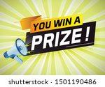 you win prize word concept...