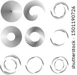 radial speed lines in circle... | Shutterstock .eps vector #1501190726