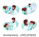 eyesight diagnostics flat...   Shutterstock .eps vector #1501193633