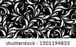 floral seamless pattern.... | Shutterstock .eps vector #1501194833