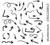 black arrows. simple hand drawn ...   Shutterstock .eps vector #1501220813