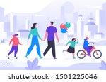 happy childhood activity flat... | Shutterstock .eps vector #1501225046