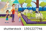 father with little kids... | Shutterstock .eps vector #1501227746